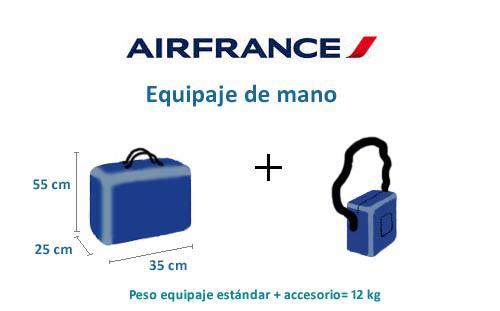 air france equipaje de mano medidas