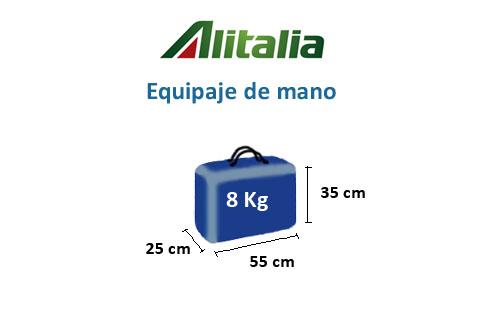 equipaje de mano de alitalia