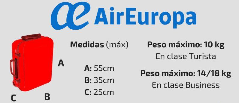 equipaje de mano air europa lite