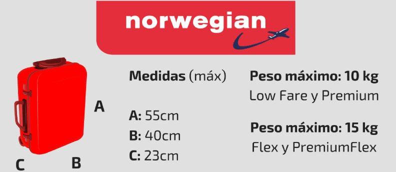 equipaje de mano norwegian opiniones