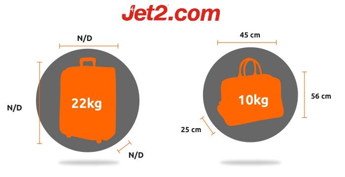 jet2.com equipaje de mano