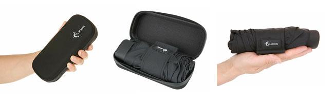 paraguas plegable como equipaje de mano