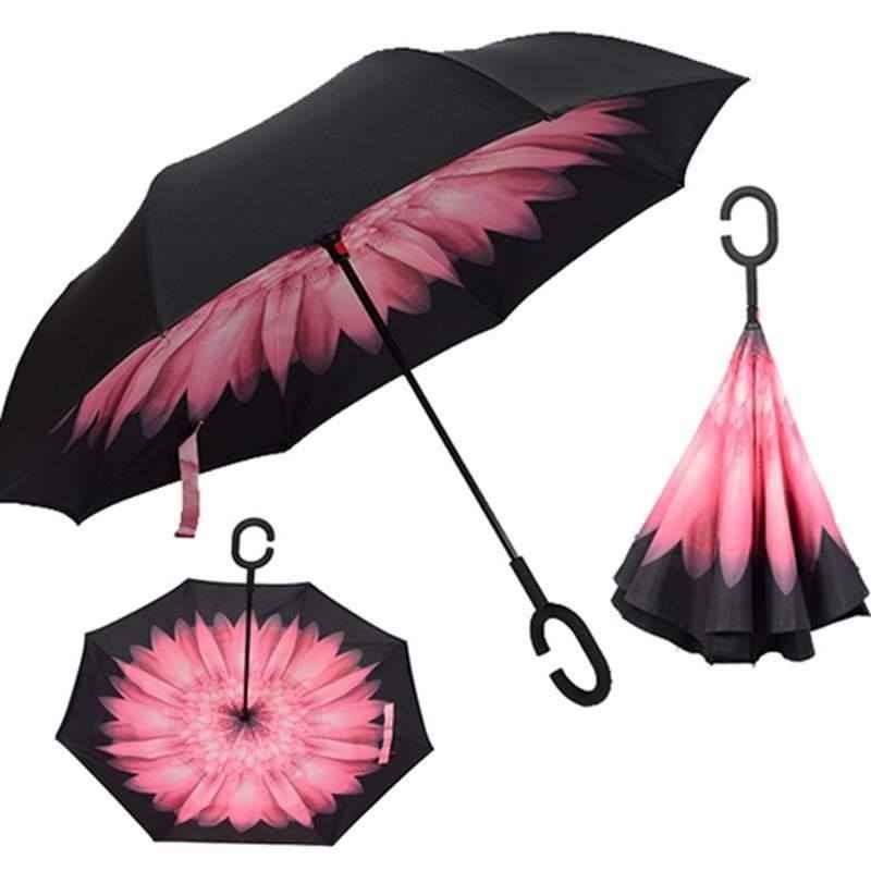 paraguas plegable en equipaje de mano