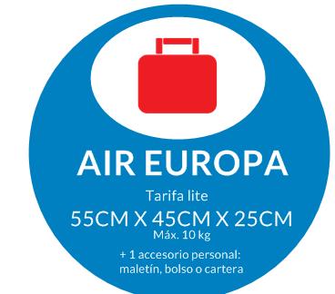 equipaje de mano air europa mochila