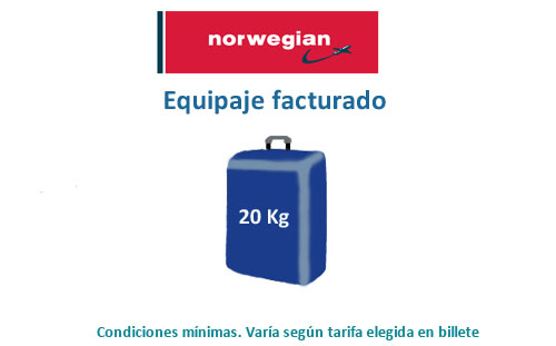equipaje de mano norwegian air shuttle