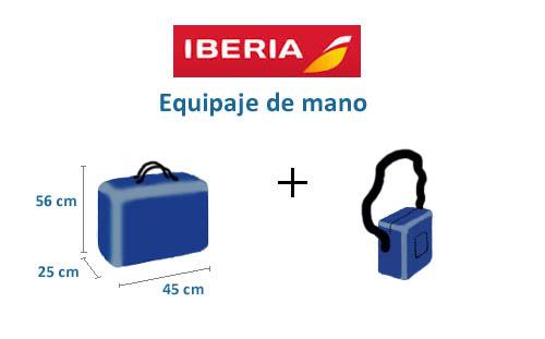 equipaje de mano iberia express kilos