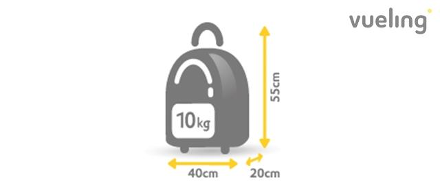 equipaje de mano vueling mochila