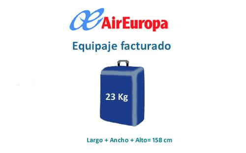 air europa equipaje de mano bebe