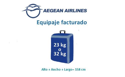 aegean airlines equipaje de mano permitido