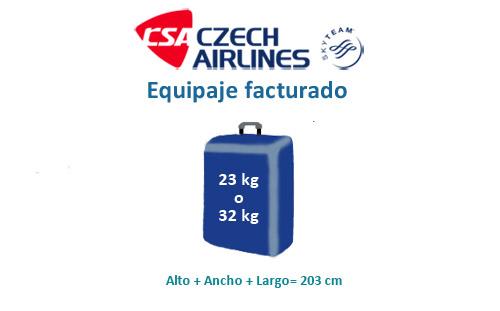 equipaje de mano permitido en czech airlines