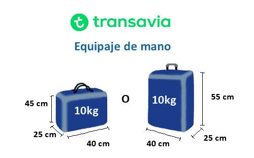 normas equipaje de mano transavia