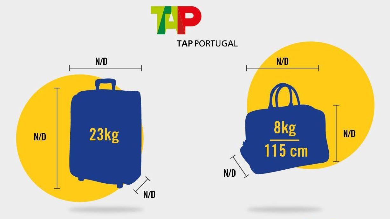 peso equipaje de mano tap portugal
